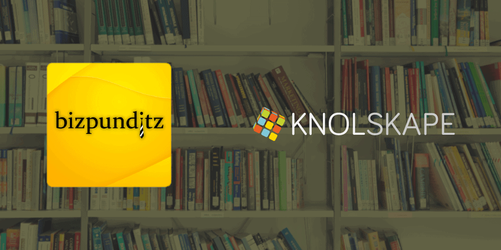 KNOLSKAPE partners with Bizpunditz content library