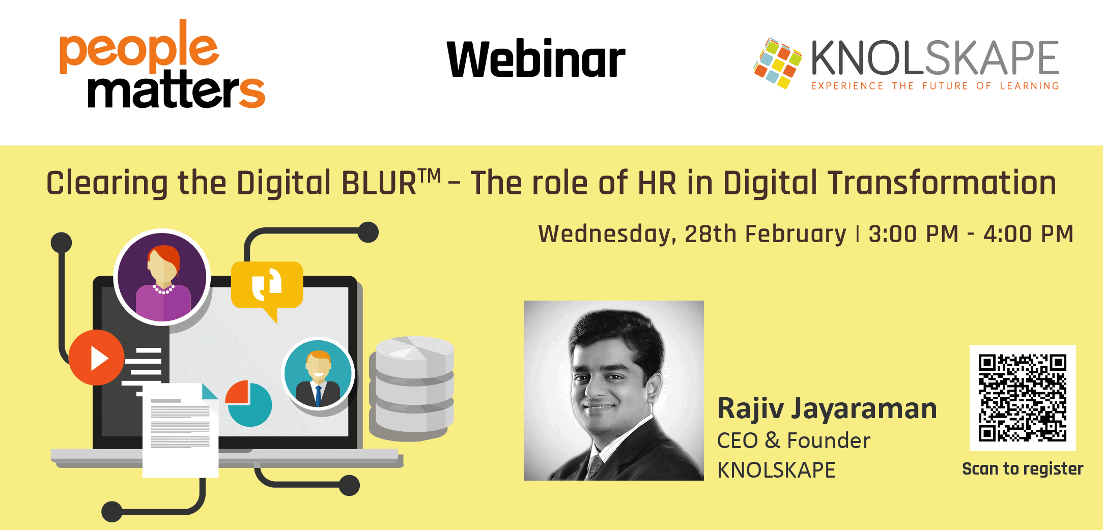 How can #HR make a difference in the age #DigitalTransformation? Find the answer to this challenging question in this webinar KNOLSKAPE is hosting in association with People Matters