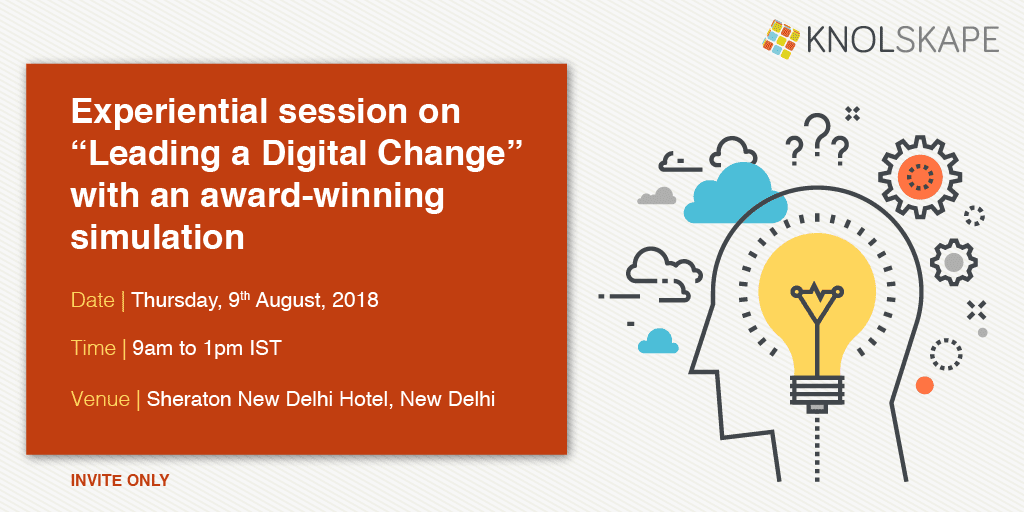 Experiential Session on 'leading in digital age' with an award-winning simulation - New Delhi
