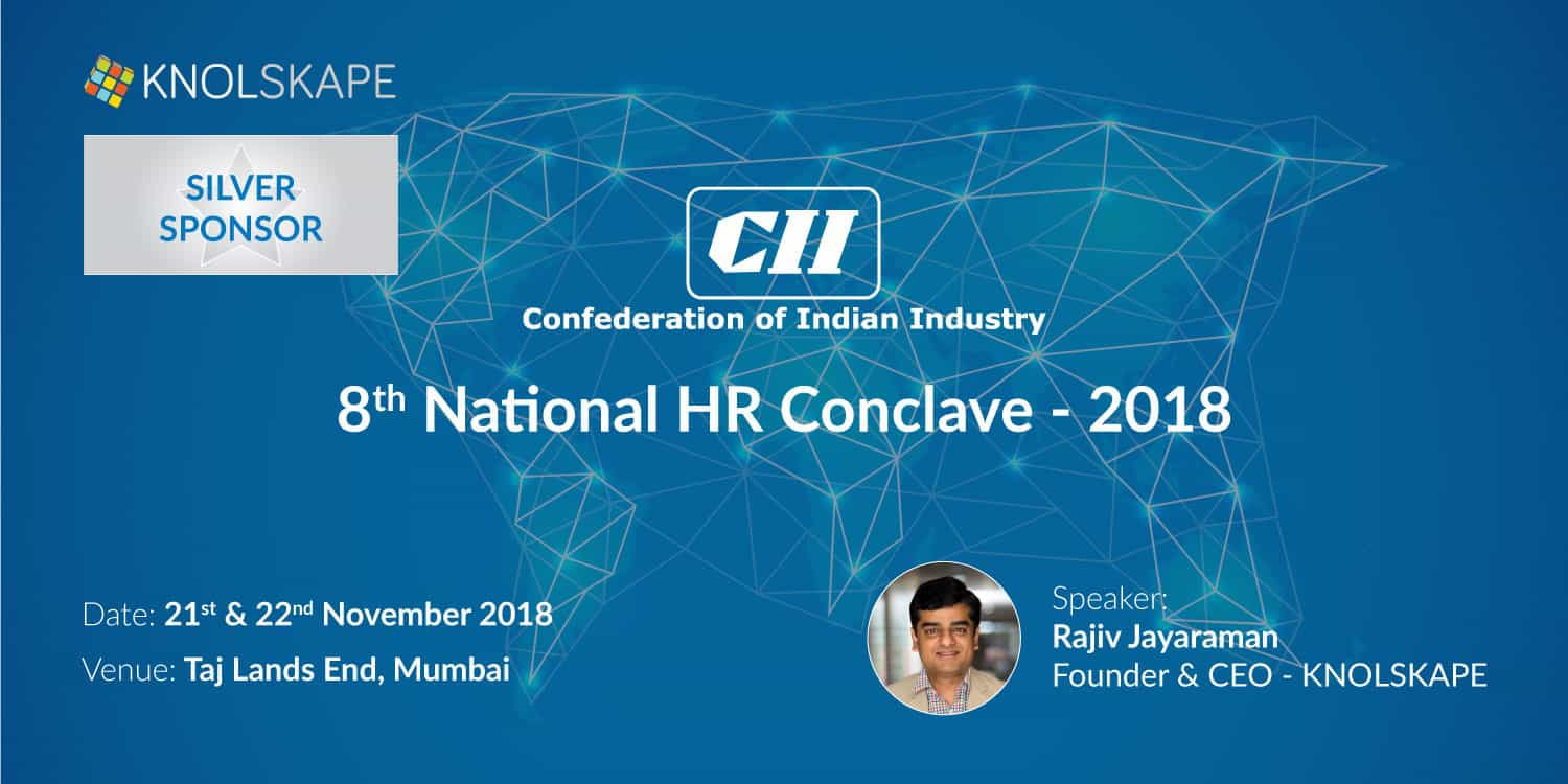 KNOLSKAPE is proud Silver sponsor for CII - 8th HR National Conclave 2018