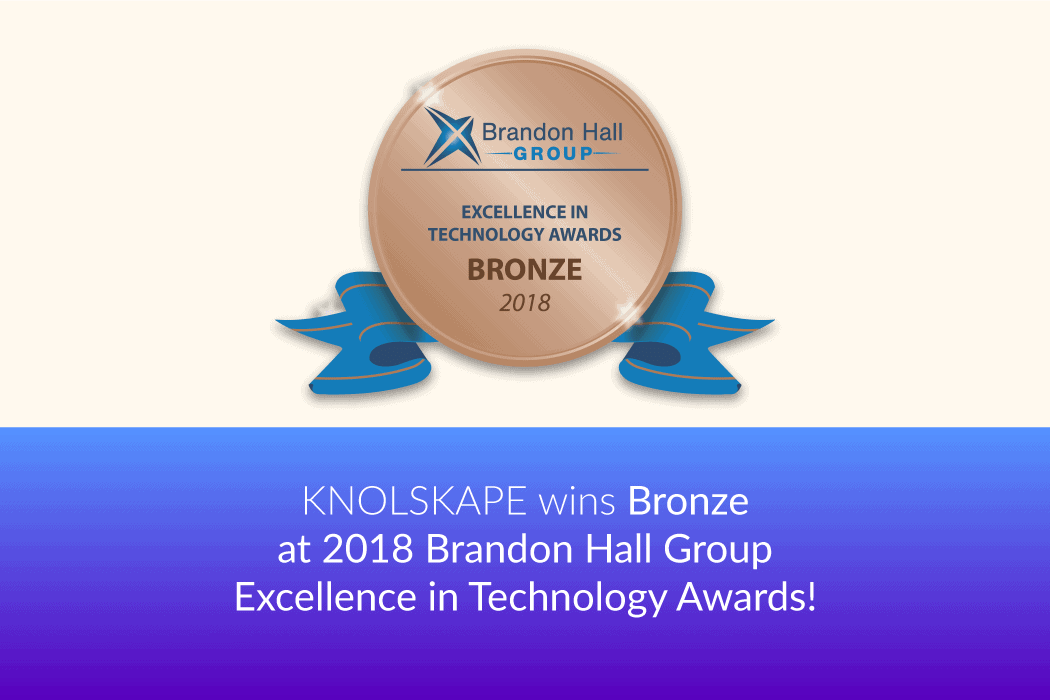 KNOLSKAPE wins Brandon Hall Excellence award for the 4th year.