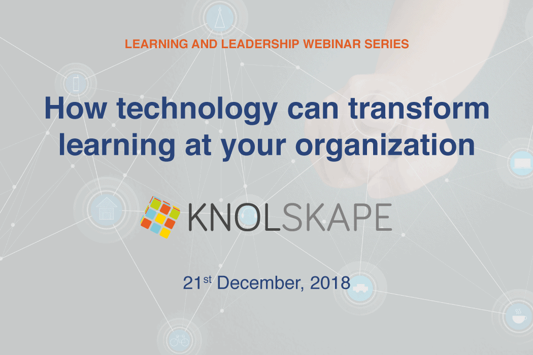 Webinar – How technology can transform learning at your organization