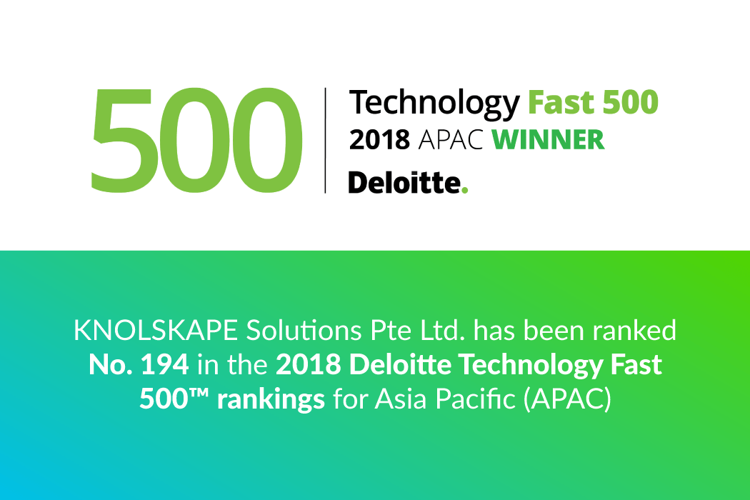 KNOLSKAPE named a Deloitte Technology Fast 500™ Company