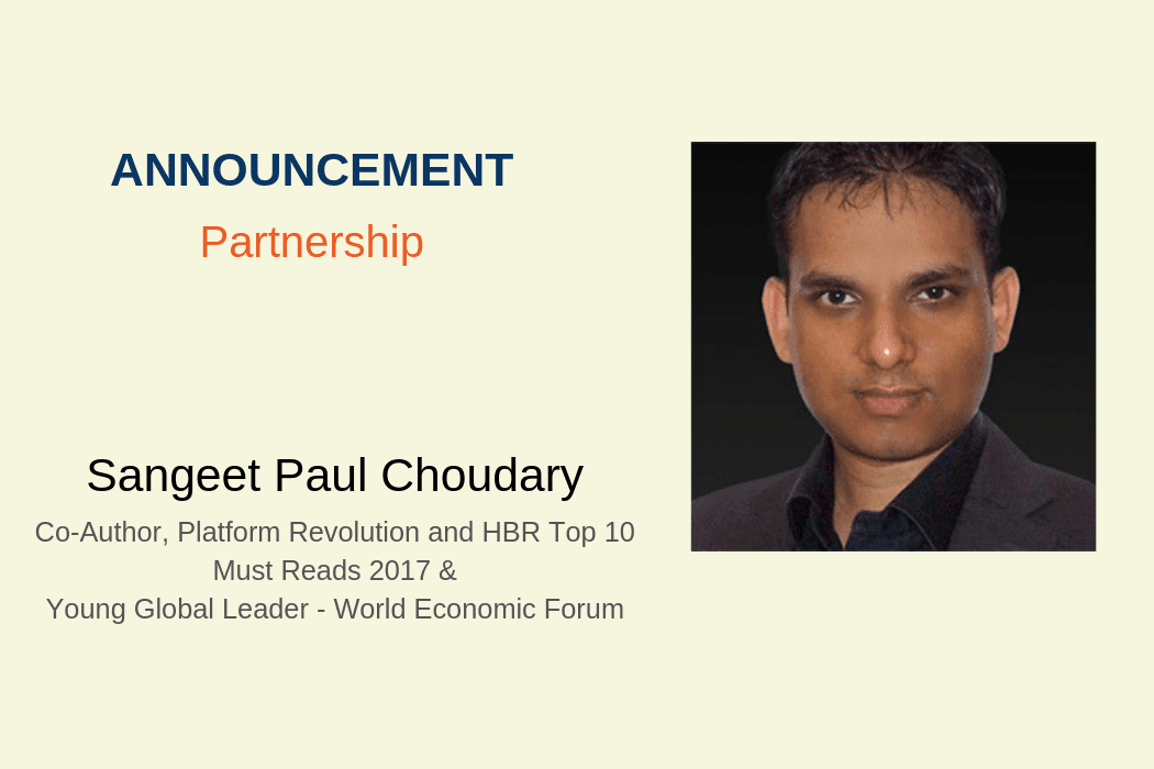 Platform Thinking Expert Sangeet Paul Choudary partners with KNOLSKAPE to help organizations win in the digital economy with platform business strategies