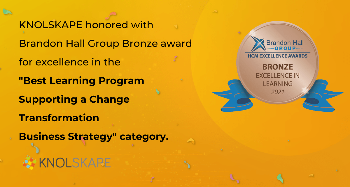KNOLSKAPE along with Sony Pictures Honored with Bronze in the 2021 Brandon Hall Group Excellence Awards